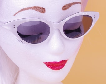 VTG 50/60s White Pearl Sunglasses France // Fifties Sixties Sunnies Franme France