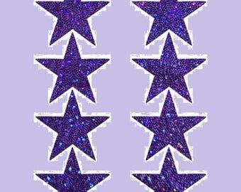 8 Mini Purple Stars Nipple & Body Pasties Nipple Covers  BOGO Free