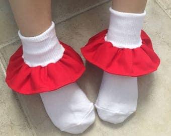 Red Ruffle socks! READ DESCRIPTION!!!