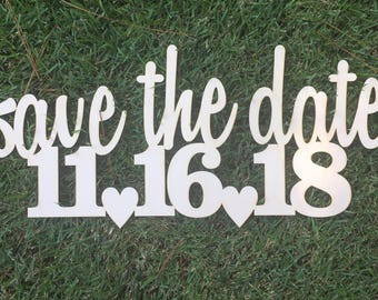 Save the date, save the date wedding prop, save the date photo prop, wooden save the date