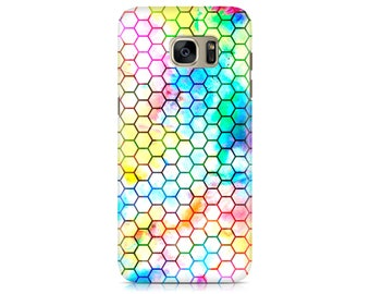 Case for Samsung Galaxy S7 S7 Edge Galaxy S8 Galaxy S8 Plus iPhone 7 iPhone 7 Plus LG G4 LG G5 Htc 10 Htc M9 Colorful Beehive Pattern
