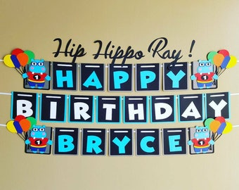 Hippo Birthday Banner, Hip Hippo Ray Banner, Hip Hippo Ray Party, Hippo Party