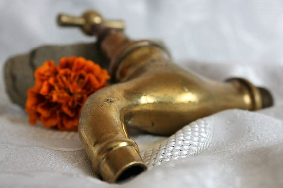 Vintage Water Faucet, 1940s, Old Brass Spigot, Water Spigot, Antique ...