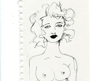 Violet, portrait of woman
