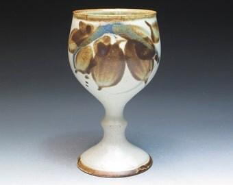Oldrich Asenbryl Stoneware Goblet, Ex-Aldermaston Potter, Studio Pottery Goblet, Handthrown Pottery