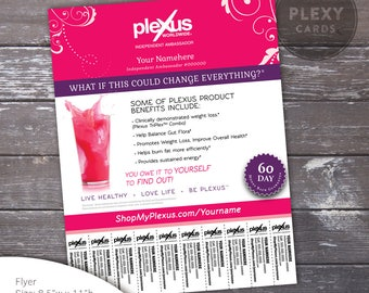 Pink Fancy Plexus Flyer - With Tear Off Tabs [Digital File]