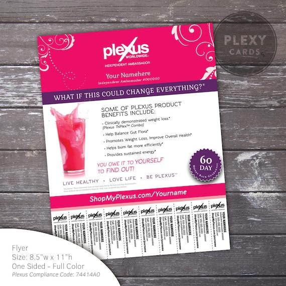 Pink Fancy Plexus Flyer With Tear Off Tabs Digital File – Tear off Tab Flyer