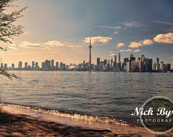 By the beach. Toronto, Island, Canada, cityscape. sunset, water, city.HDR