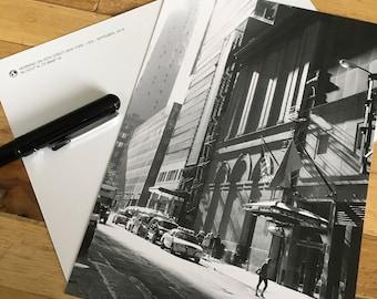 Card - New York - morning on 45th street