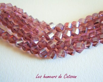 20 6mm Amethyst faceted Crystal beads