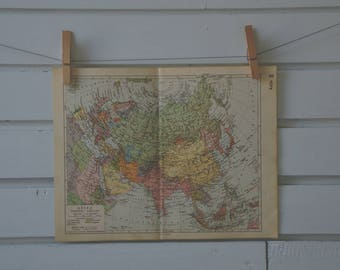 1938 Vintage Asia Map