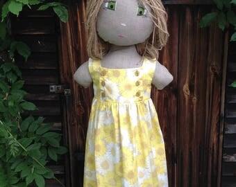 Child's Yellow Daisy Dress and Matching Headband