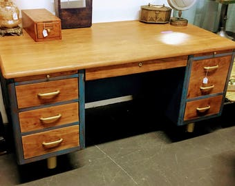 Mid-Century Executive Desk by Hoosier Desk Company - Office Desk
