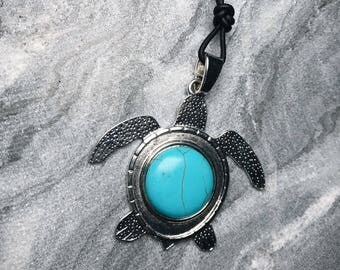 Surfer Necklace- Turquoise Necklace - Hippie jewlery - Beach Jewelry