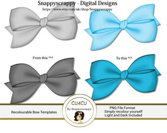 Bow Recolouring Templates