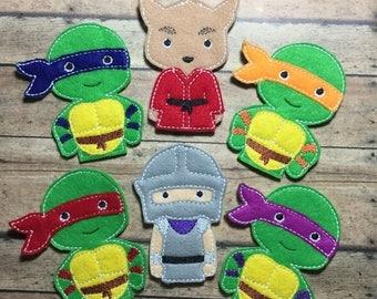 25% off store wide sale Finger Puppets - Ninja Turtles