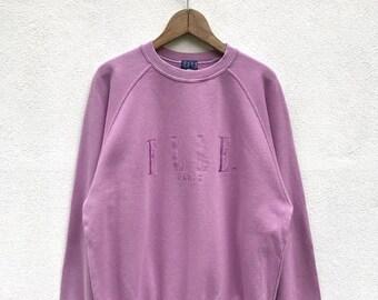 20% OFF Vintage Elle Paris Embroidery Big Logo Sweatshirt / Elle Sport Jumper / Elle Spell Out Shirt / Elle Crewneck / Swag