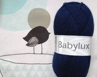 WOOL BABYLUX Admiral - white horse