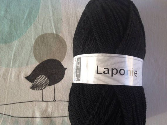 WOOL LAPLAND black - white horse