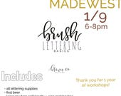 Brush Lettering at Madewest