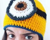 2 Stuart Despicable Me Minion Inspired Hat - Custom Order Lindsay