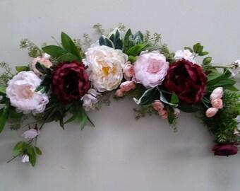 Wedding Arch,Wedding Arch Flowers, Arbor Flowers, Silk Arbor Flowers, wedding Arbor Flowers, Ceremony Arbor Flowers, Reception Decoration