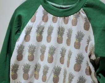 Sweater - 12 months - PINEAPPLE - long sleeve / raglan