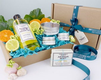 Citrus Perfect Pamper Gift Set / Luxury Gift Box, Natural Skincare, Cruelty Free, Paraben Free