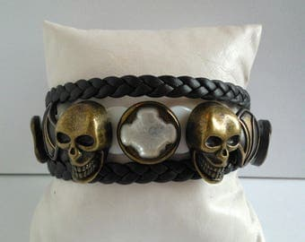 """SKULL LEGEND"" unique mens bracelet"