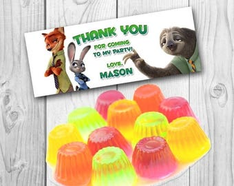 Zootopia Favor Bag Toppers - Zootopia Treat Bag Topper - Zootopia Candy Bag - Zootopia Birthday Party