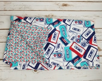 retro cassette tape reversible flannel baby blanket