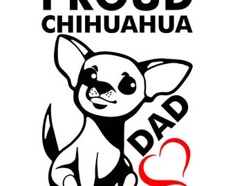 Proud Chihuahua Dad Vinyl Stickers