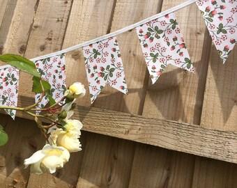 Strawberry Bunting - Laura Ashely Vintage Fabric