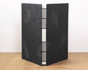 Large Notebook, Lined Notebook, Dot Grid Journal, Watercolor Sketchbook, Art Journal, Handmade Journal, Black Sketchbook, Lay Flat Notebook