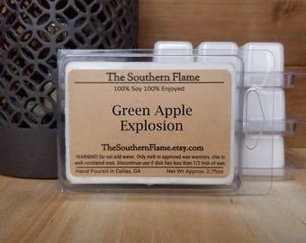 4 Packs of Green Apple Explosion Melts - Free Shipping - Wax Cubes - Wax Tarts - Warmer Melts - Stocking Stuffers