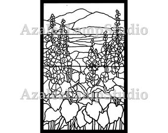 Art Nouveau Print, Stained Glass Patterns, Pattern Designs, Tiffany Window Insert, Coloring Pages, Pattern Svg, Pattern Print, Tree Print