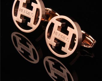 HERMES Cufflinks in Gold Plated