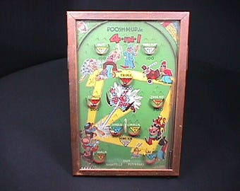 Antique Poosh-M-Up Jr. Pinball Game by Northwestern Products in Great Original Condition & Ready to Play
