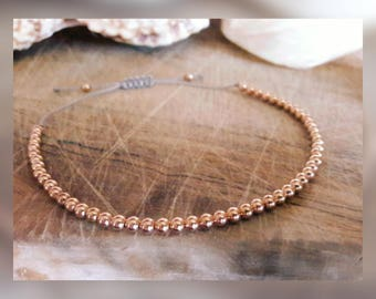 Rose gold bracelet /Rose gold Jewellery/ Rose gold / Rose gold beaded bracelet / gifts for her / bridesmaids gifts /boho style / festival