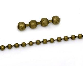 50cm chain 2mm BRONZE beads
