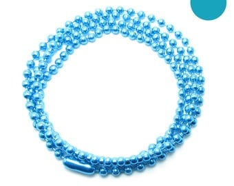 NECKLACE 60cm ball chain 2.5 mm LAGOON