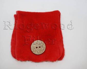 Red Wet Felt Bag (sm)