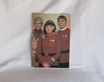 "vintage futuristic Star Trek VI ""The undiscovered country"" postcard presenting Leonard Nimoy as Spock, Star Trek, Star Trek collectible"