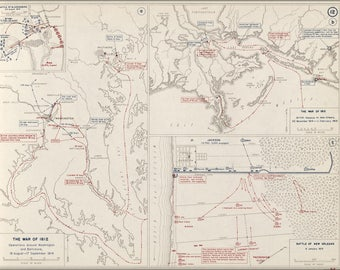 Poster, Many Sizes Available; War Of 1812 Map Of Washington D.C. Baltimore New Orleans 1814
