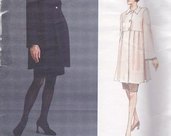Vogue 1465 Designer Lauren Sara Maternity Pattern - Tunic Top and Skirt Size 18,20,22 UNCUT
