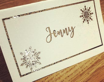 Personalised placecards/name places