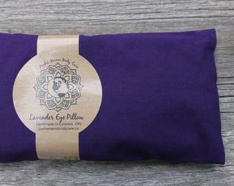 Lavender Eye Pillow - Dark Purple  • Large •  Relaxation • Meditation • Yoga • Insomnia • Organic Body Care