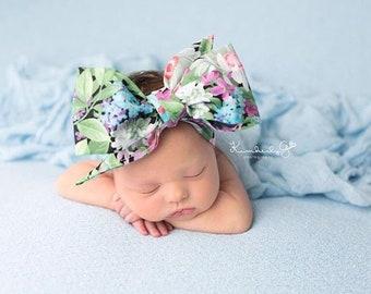 DAISY FLORAL Gorgeous Wrap- headwrap; fabric head wrap; floral head wrap; boho; newborn headband; baby headband; toddler headband