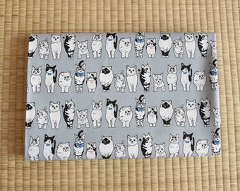 japanese cat fabric for 1/2 yard