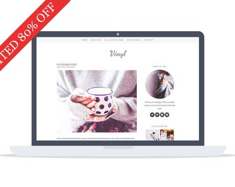 80% OFF - Vinyl - Wordpress Theme - Premade - Self Hosted - Wordpress Blog Theme - Responsive